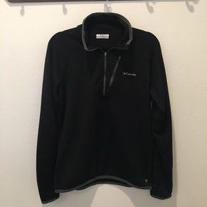 Men's Columbia Black Long Sleeve Wicking Zip Up